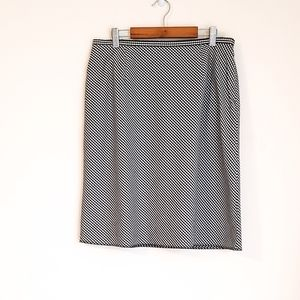 Liz Claiborne BLACK & White GINGHAM Pencil Skirt